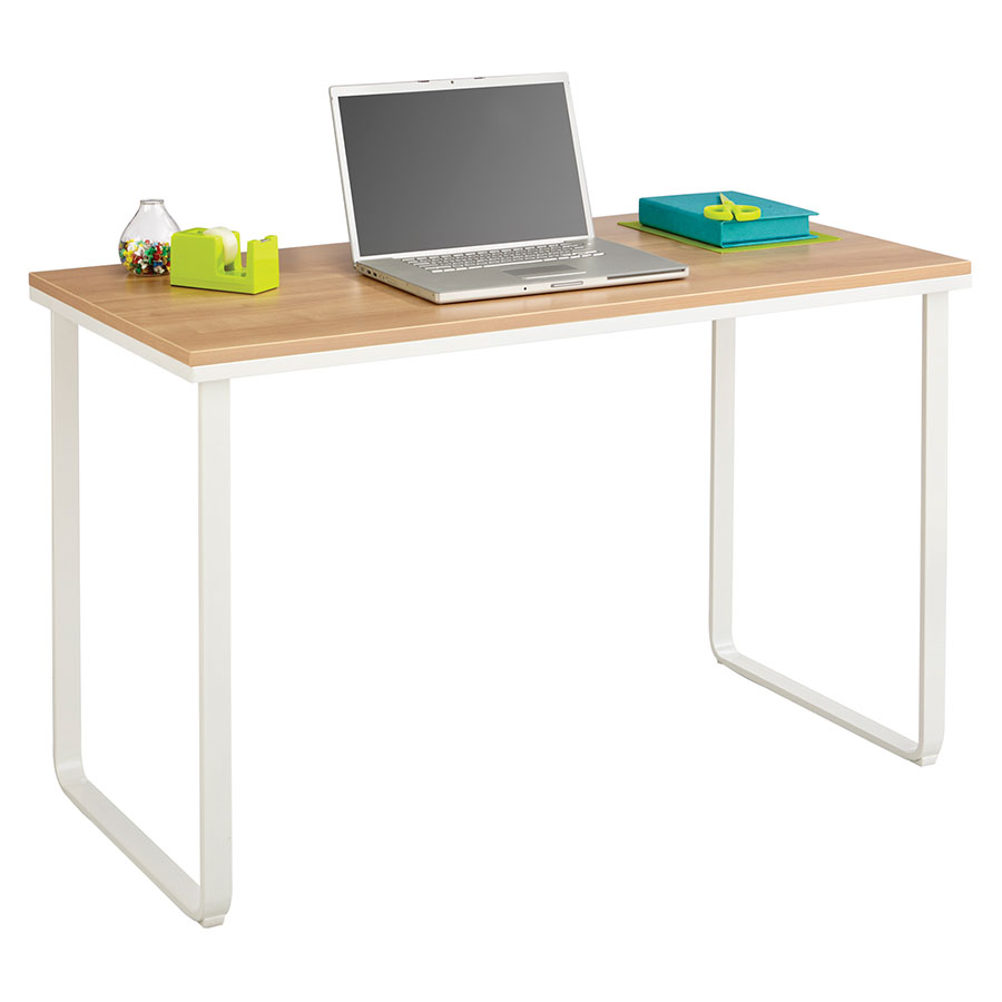 modern desks | jordan beech + white desk | eurway