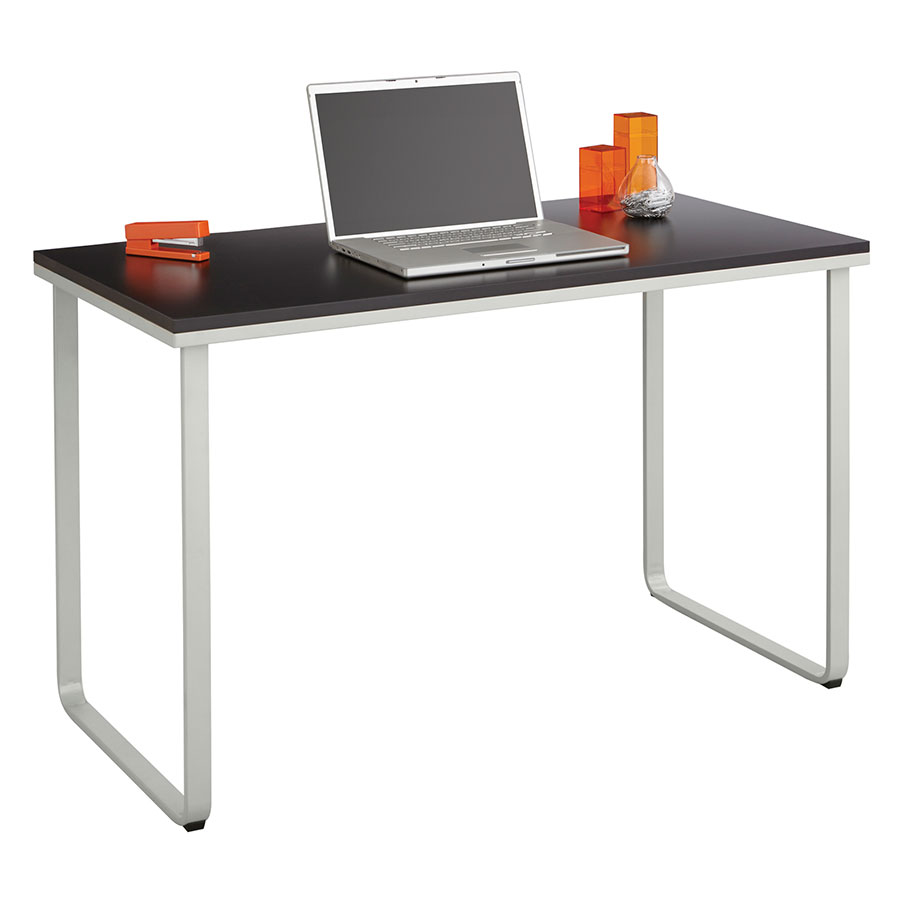 Call To Order Jordan Modern Home Office Desk In Black And Silver