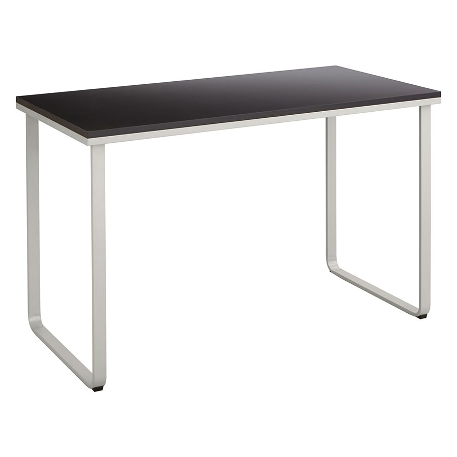 Jordan Contemporary Black And Silver Desk