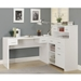 Jordi Contemporary L-Desk Set in White