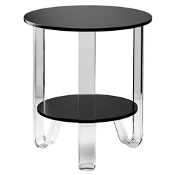 Jordi Modern Black + Acrylic End Table