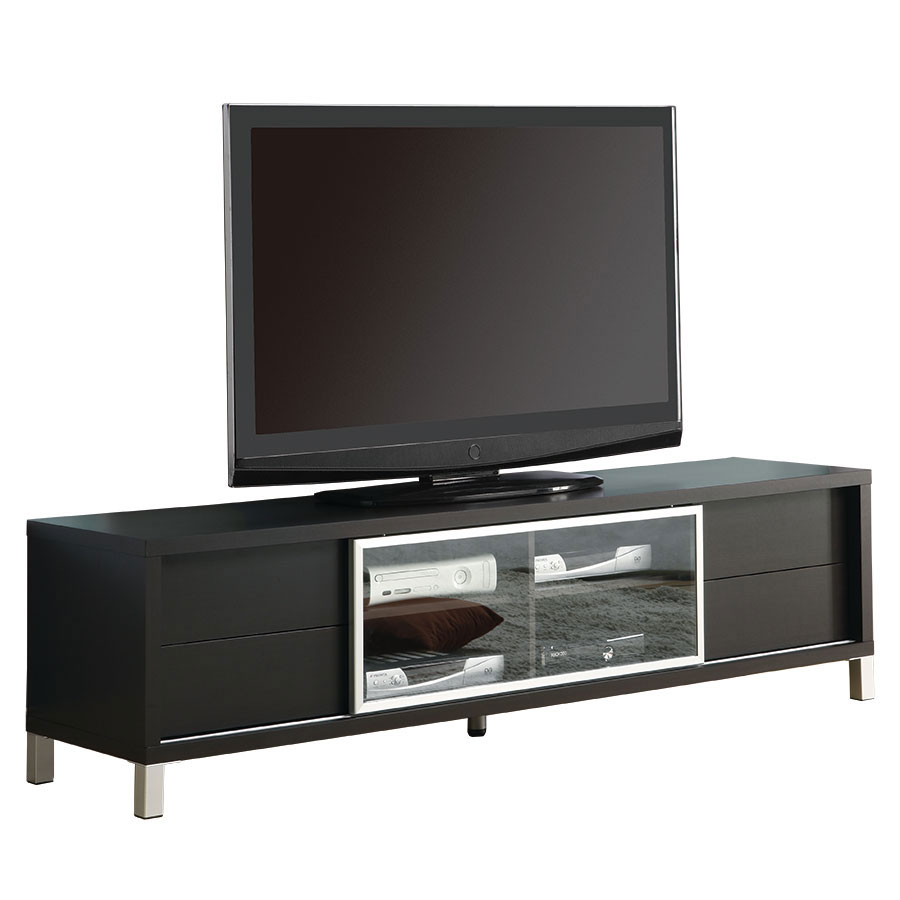 Josh Modern Cappuccino TV Stand w/ Storage Drawers