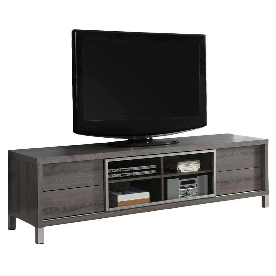 Call To Order Josh Contemporary Dark Taupe Tv Stand W Storage Drawers