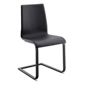 Jude-sp Anthracite + Black Modern Dining Chair by Domitalia