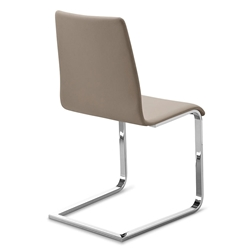 Jude-sp Chrome + Taupe Modern Dining Chair by Domitalia