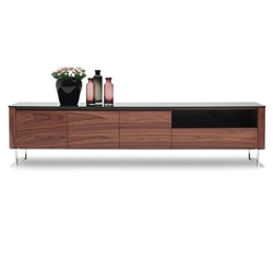 Julius Modern Walnut TV Stand