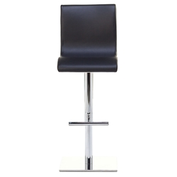 June SG Adjustable Bar Stool in Black by Pezzan