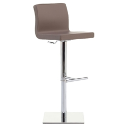 June SG Adjustable Bar Stool in Taupe by Pezzan