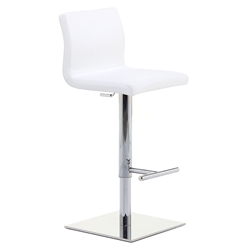 June SG Adjustable Bar Stool in White by Pezzan