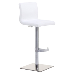 June SGT Adjustable Bar Stool in White by Pezzan
