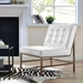 Juneau Modern Faux White Patent Leather Chair