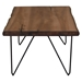 Juneau Rustic Mid-Century Modern Coffee Table - Side View