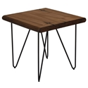 Juneau Rustic Mid-Century Modern End Table