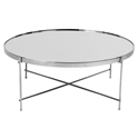 Juno 32 in. Modern Mirrored Chrome Coffee Table by Euro Style