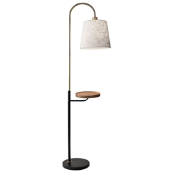 Juno Modern Floor Lamp w/ Shelf