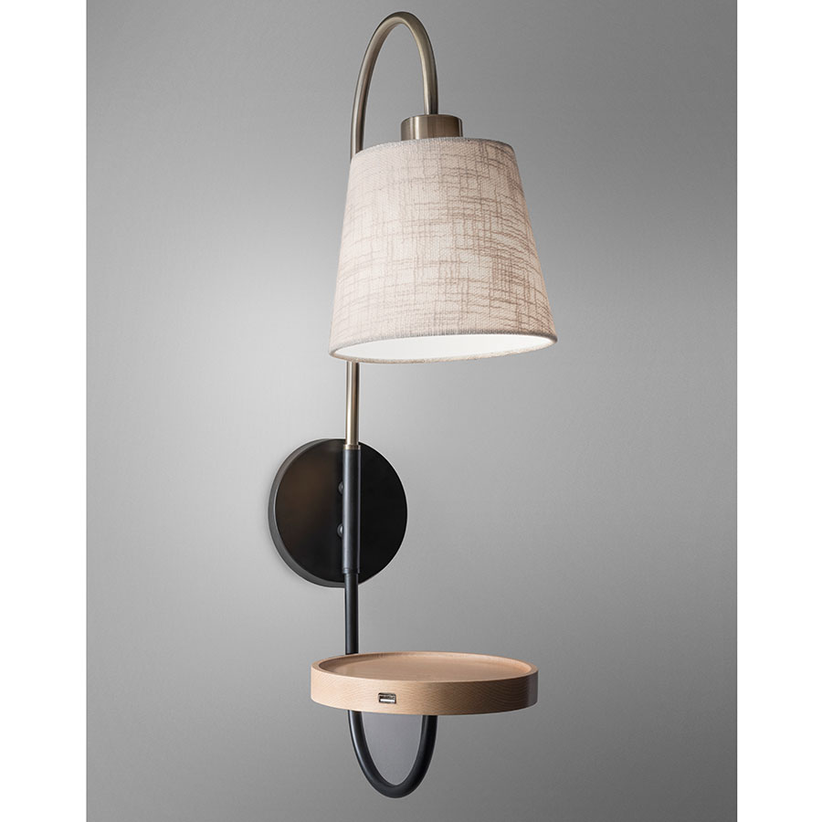 contemporary wall lighting. Juno Contemporary Wall Lamp W/ USB Charger Lighting