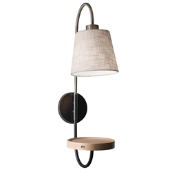 Juno Modern Wall Mount Lamp w/ USB Charging Port