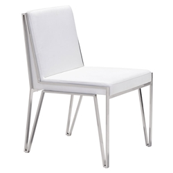 Kaden White Modern Dining Chair