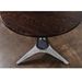 Kahn Seared Oak + Black Steel + Concrete Round Modern Industrial Bistro Dining Table - Top Angle