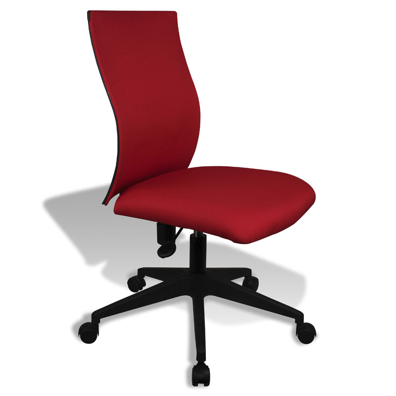 kaja red modern armless office chair eurway