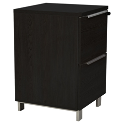Kalmar Modern 2-Drawer File Cabinet in Espresso
