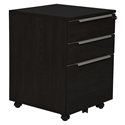 Kalmar Modern 3-Drawer Mobile File Cabinet in Espresso
