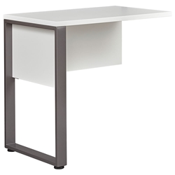 Kalmar Modern 32 Inch Return Desk in White