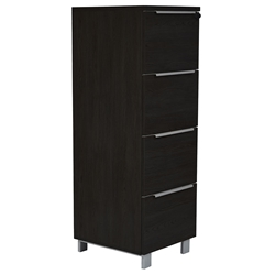 Kalmar Modern 4-Drawer File Cabinet in Espresso