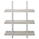 Kalmar Modern 40x48 Open Gray Washed Bookcase - Front View