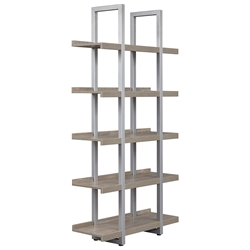 Kalmar Modern 40x80 Open Gray Washed Bookcase