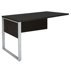 Kalmar Modern 47 Inch Return Desk - Espresso Laminate
