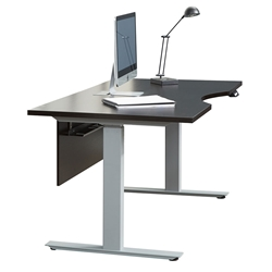 Kalmar Modern Espresso and Silver Standing Desk by Unique Furniture