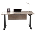 Kalmar Modern Gray Washed and Black Standing Desk by Unique Furniture