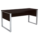 Kalmar Modern 63 In Left Crescent Desk in Espresso
