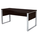 Kalmar Modern 63 In Rt Crescent Desk in Espresso