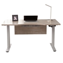 Kalmar Modern Gray Washed and Silver Standing Desk by Unique Furniture