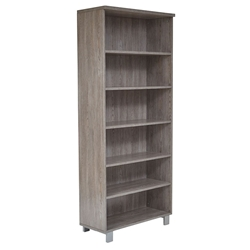Kalmar Modern Gray Washed Bookcase by Unique