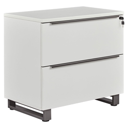 Kalmar Modern Lateral File Cabinet in White