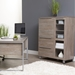 Kalmar Contemporary Storage Cabinet in Gray Washed Finish