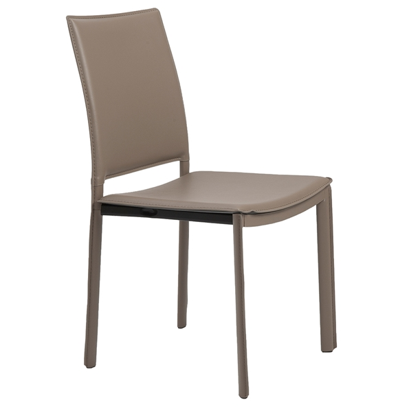 Kate Modern Taupe Side Chair by Euro Style