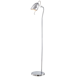 Karlee Polished Steel Modern Floor Lamp
