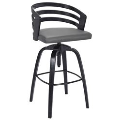 Karnes Gray + Black Screw Mechanism Adjustable Stool