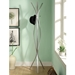 Kayla Contemporary Silver Coat Rack