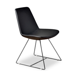 Keene Black Leatherette Modern Dining Chair
