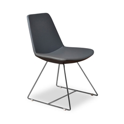 Keene Gray Leatherette Modern Dining Chair