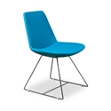 Keene Turquoise Wool Modern Dining Chair