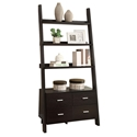 Kelly Ladder Storage Shelf in Cappuccino