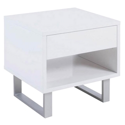 Kerby Modern White End Table