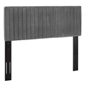 Kerien Contemporary Gray Velvet Headboard
