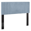 Kerien Contemporary Light Blue Velvet Headboard